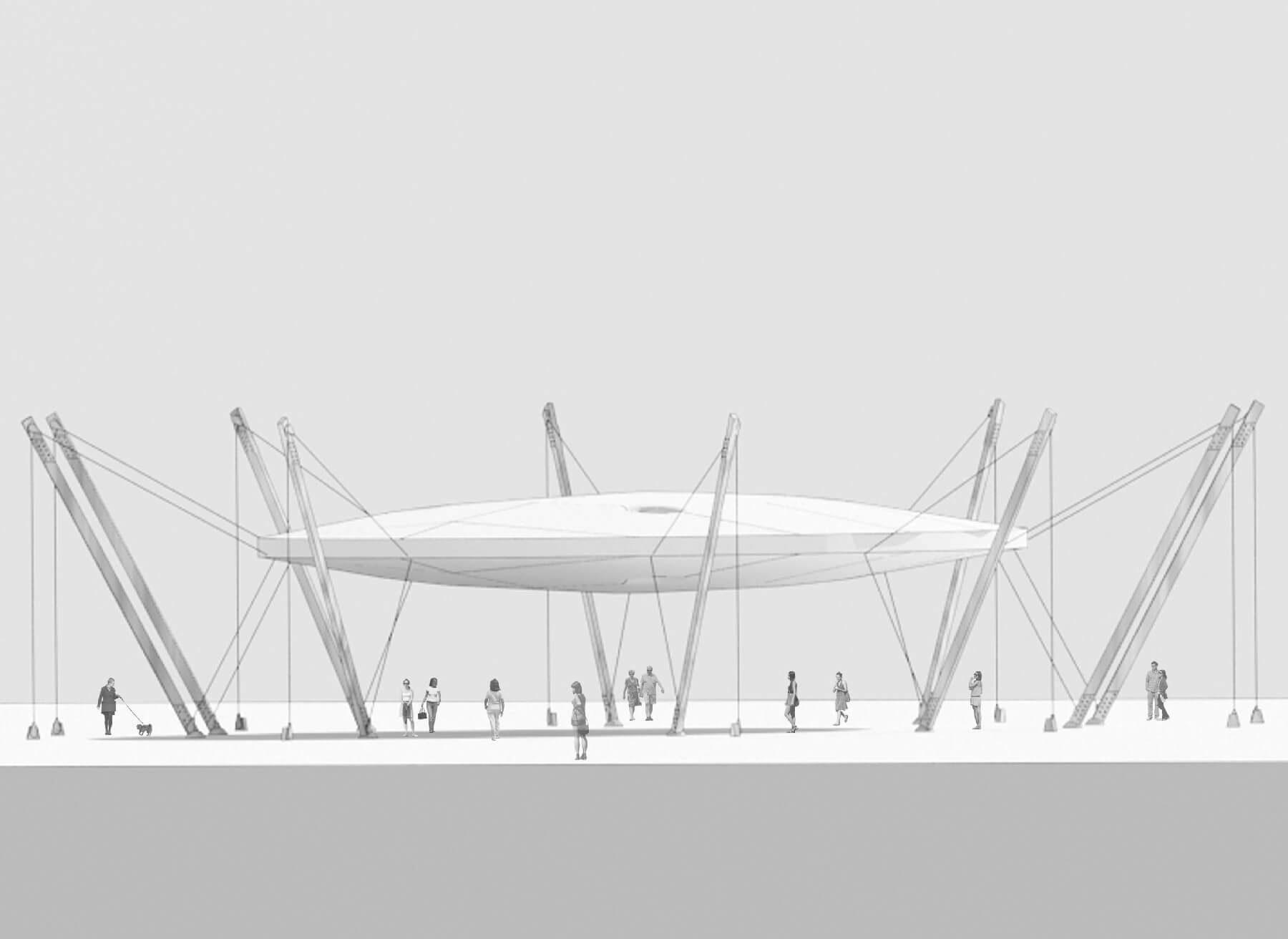 Copertura spazio esterno versiliana daniele morgantini for Design dello spazio esterno
